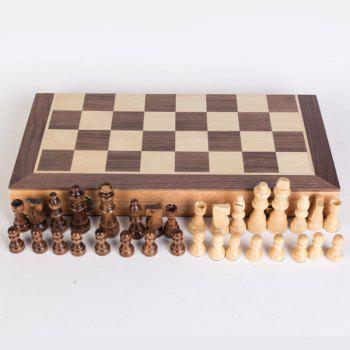 High Grade Wooden Puzzle Chess with Magnetic Recreation Board Game Toys - multicolor A SIZE : 40 X 40 X 2.5CM