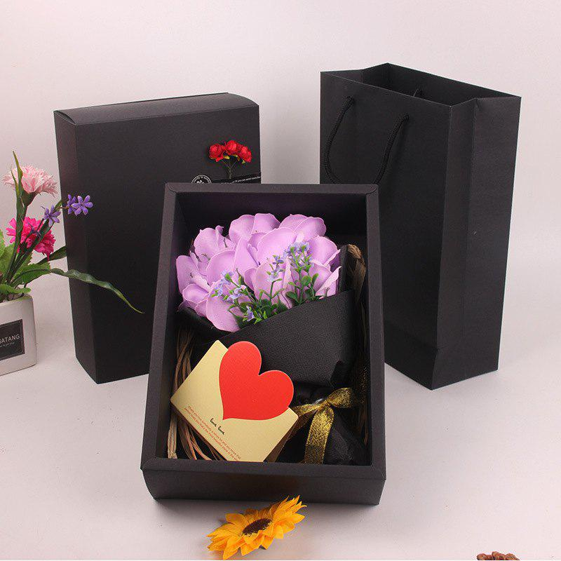Mother'S Day Gift Black 11 Roses Soap Bouquet Gift Box mothers day gift simulation rose soap flowers bouquet