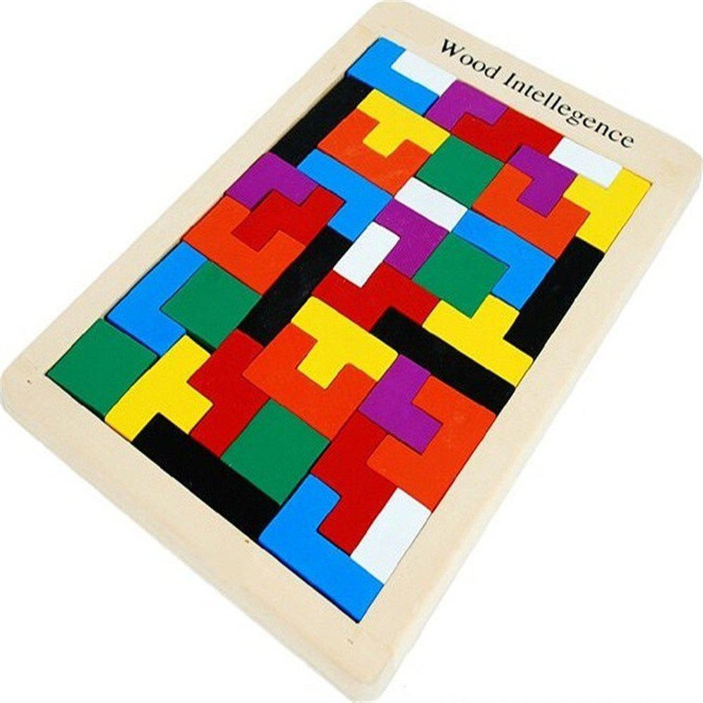 Children Puzzle Toys Tetris Wooden Puzzle Classic Building Blocks octa angle ru bun lock children puzzle toy building blocks