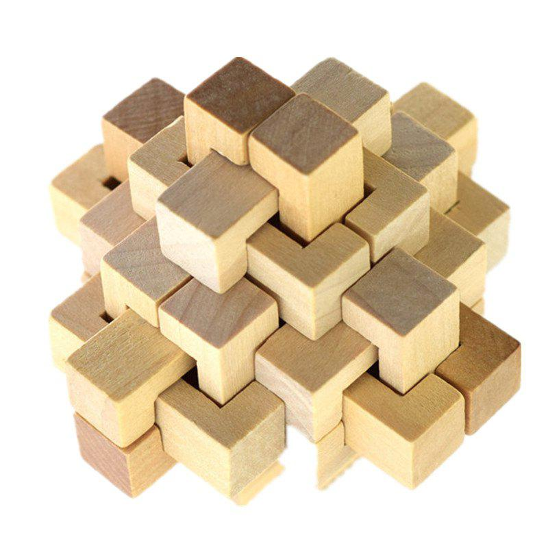 IQ Wooden Puzzle Mind Brain Teasers Burr Game Toy toy fishing rods fish magnetic game board wooden puzzle