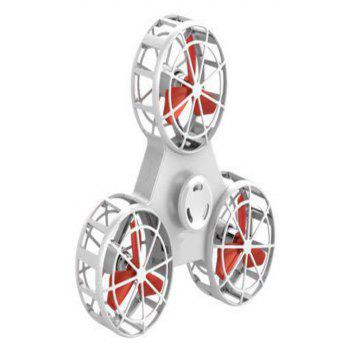 Decompression Toys Flying Finger Top Air Rotating Flight Gyro - WHITE