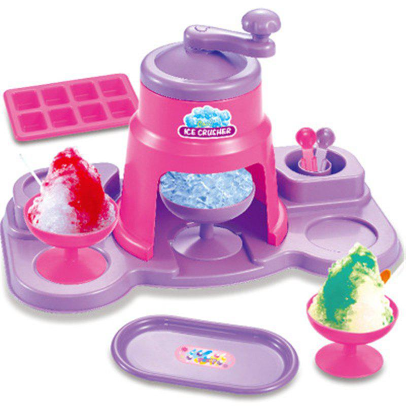 Girls Fancy Kitchen Toy Ice Cream Machine fully automatic diy fruit ice cream machine green