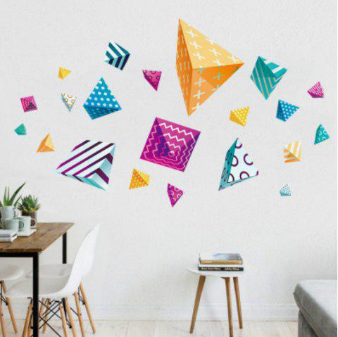 2019 3d wall stickers creative colorful decals in transparent