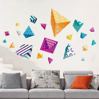 3D Wall Stickers Creative Colorful Decals - TRANSPARENT