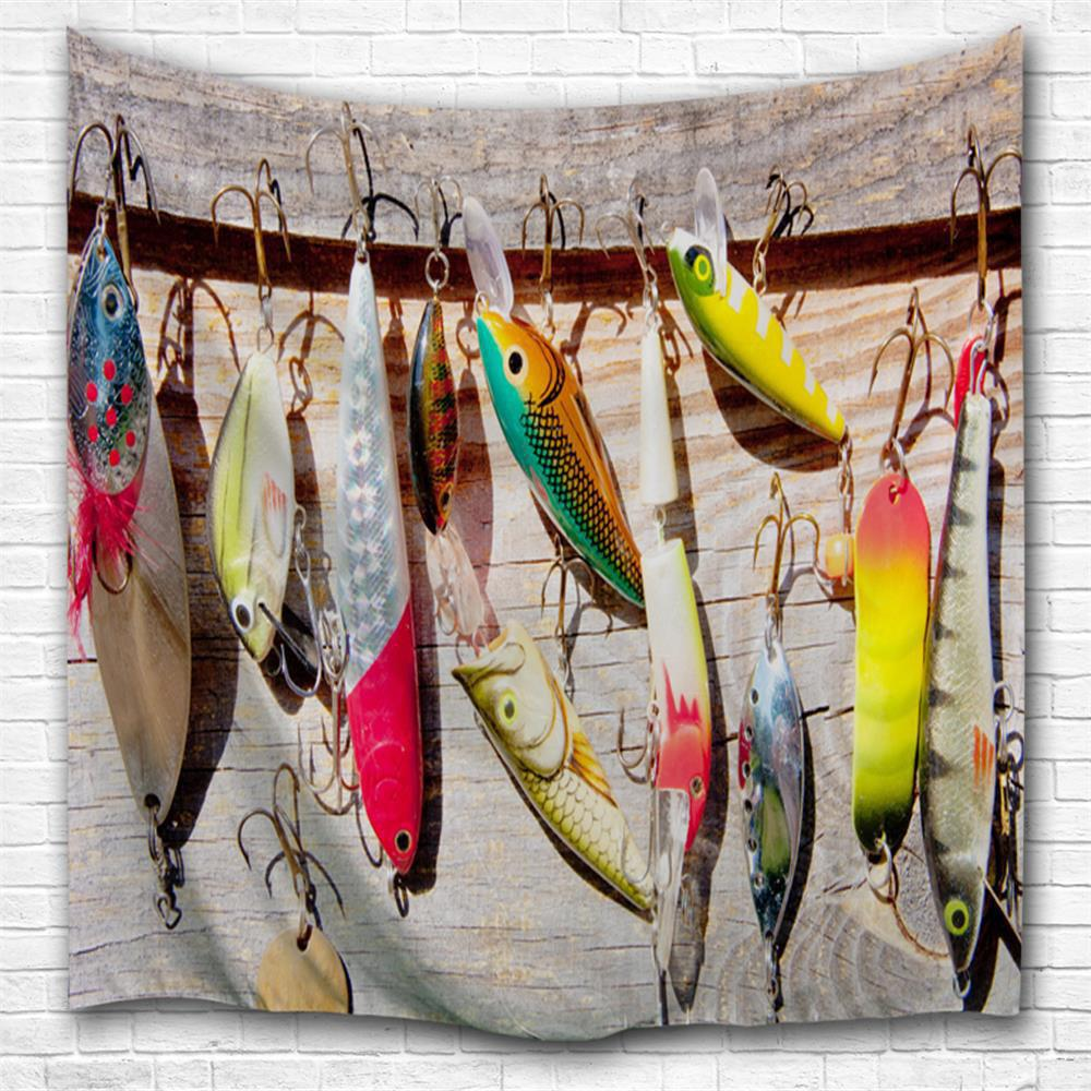 Fishing bait 3D Printing Home Wall Hanging Tapestry for Decoration space shark 3d printing home wall hanging tapestry for decoration
