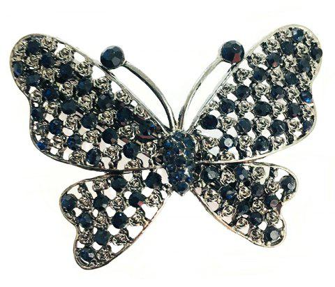 New Fashion Korean Hair Accessories High-Grade Diamond Butterfly Hairpins - BLUE