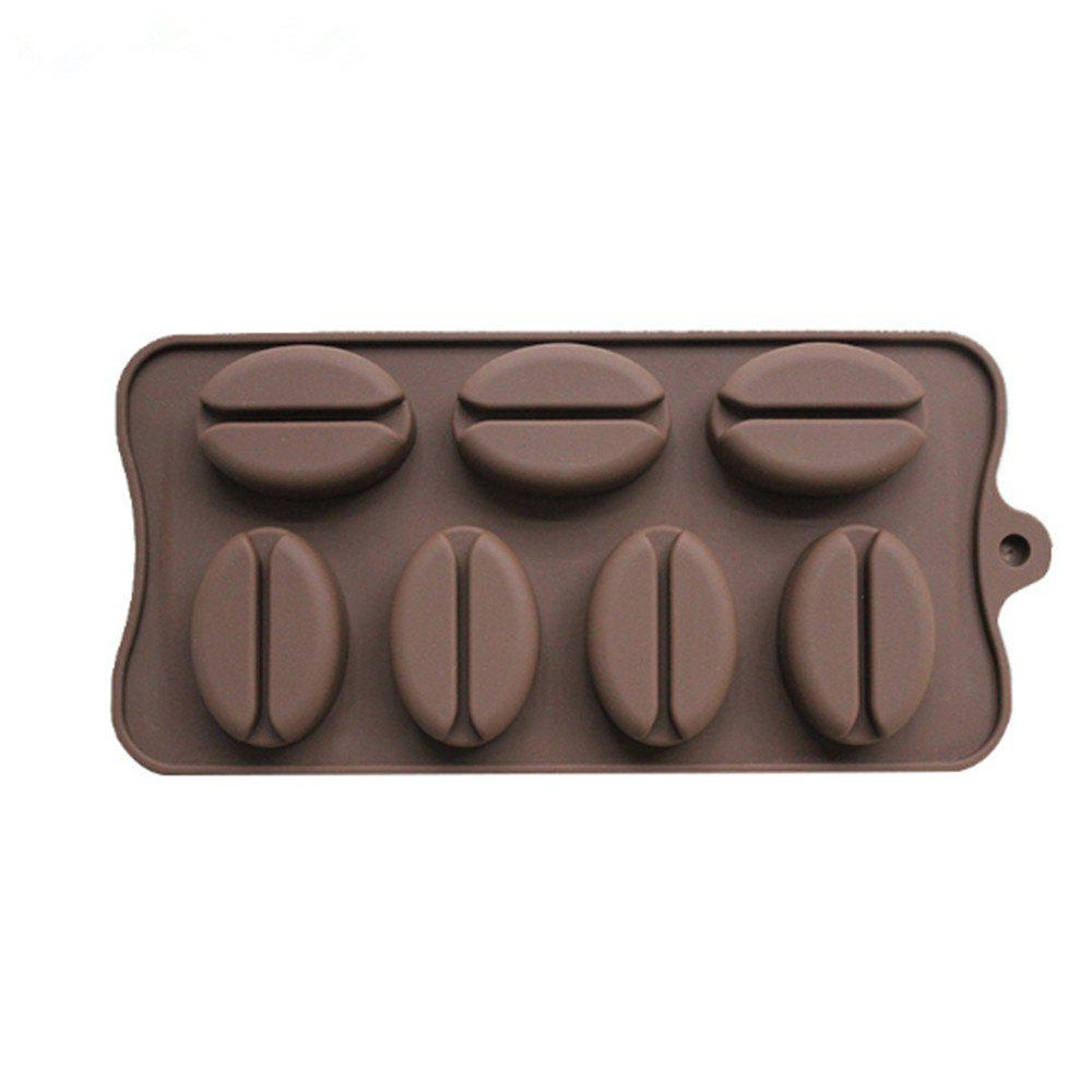 Coffee Bean Shape Chocolate Mold cutting sliced toast mold white coffee