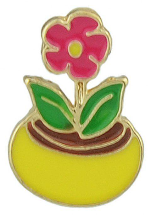 Potted For Women Fashion Brooch - ROSE RED