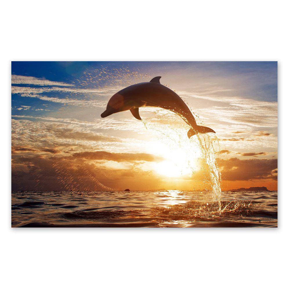 W220 Sea and Dolphin Unframed Art Wall Canvas Prints for Home Decorations family wall quote removable wall stickers home decal art mural