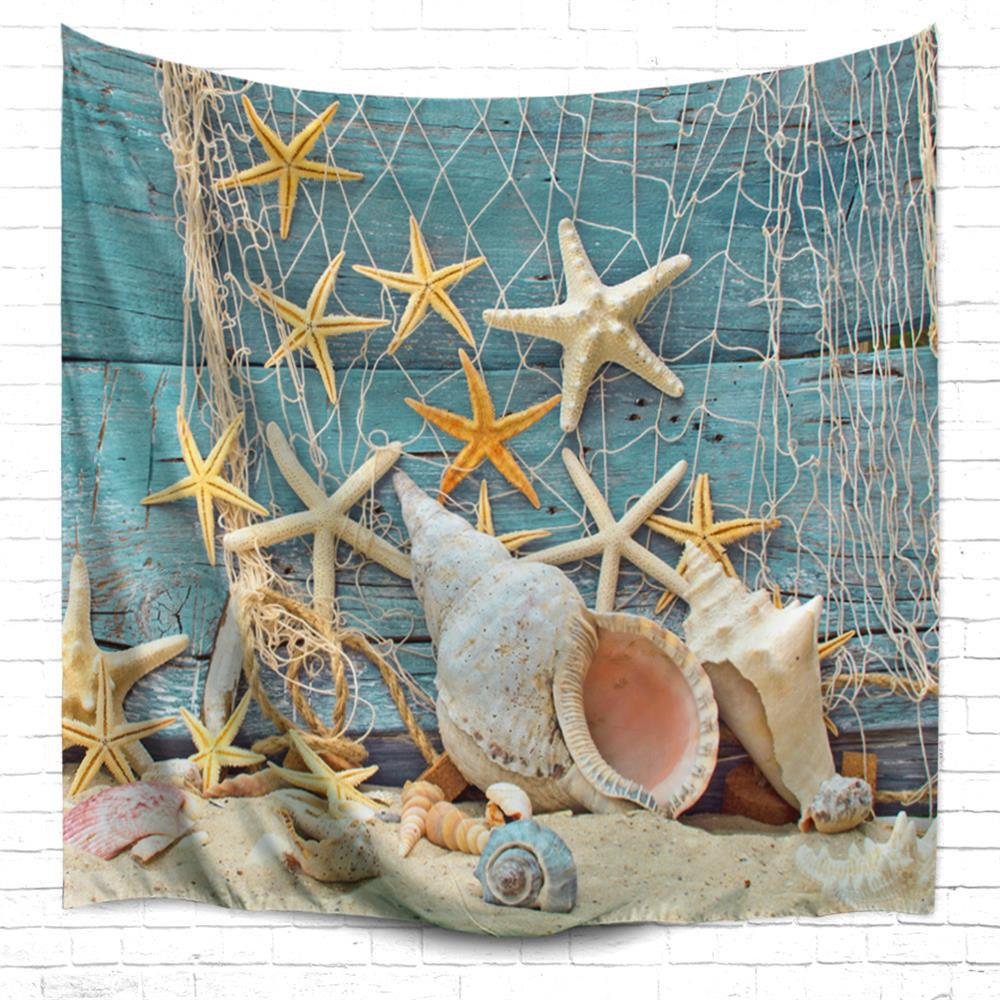 Fishnet Starfish 3D Printing Home Wall Hanging Tapestry for Decoration beach starfish 3d printing home wall hanging tapestry for decoration