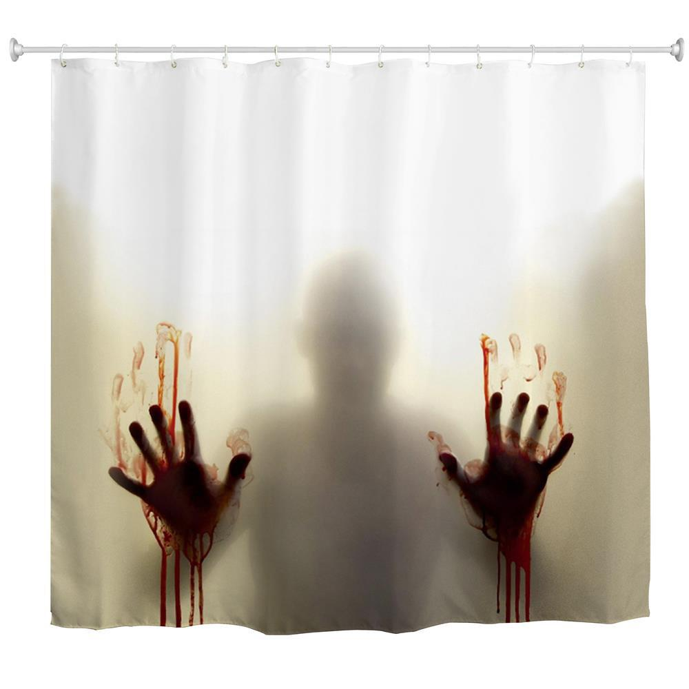 Blood-Hand Voyeur Water-Proof Polyester 3D Printing Bathroom Shower Curtain