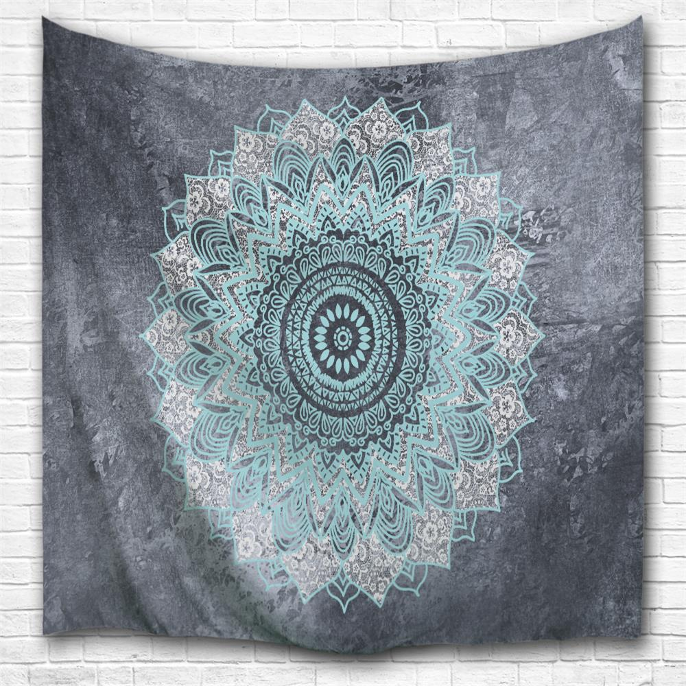 2018 blue grey datura 3d printing home wall hanging tapestry for decoration multicolor a w cmxl. Black Bedroom Furniture Sets. Home Design Ideas
