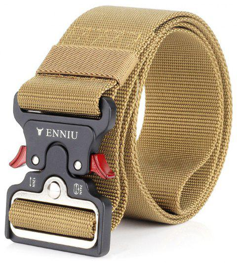 ENNIU Cow Shaped Nylon Weaving Tactical Military Belt - COOKIE BROWN