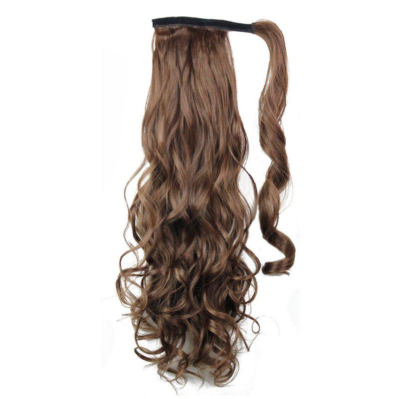 2018 Long Wavy Synthetic Wrap Around Ponytail Hairpieces Hair