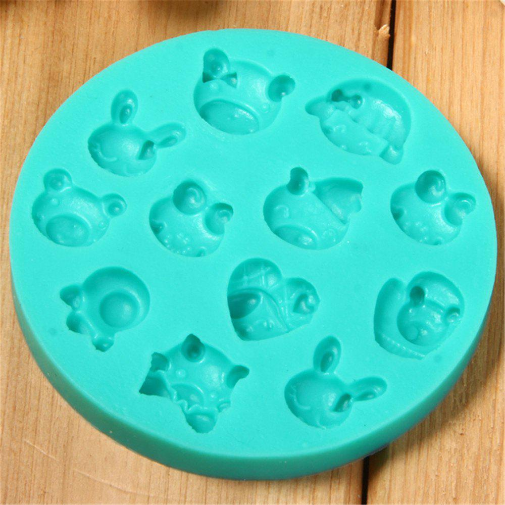 Animal Head Modeling Silicone Fondant Mold animal head modeling silicone fondant mold