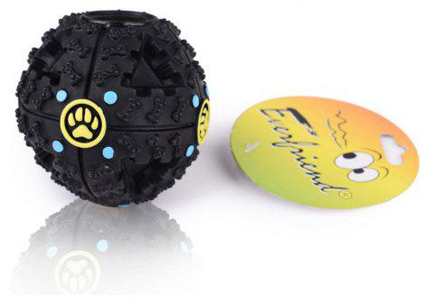 Shaking Automatically Singing Missing and Eating Pet Toy Ball with Dog's Footprints - BLACK