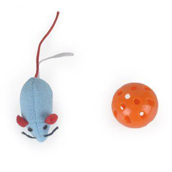 The Cat Toy with Bell Ball Puzzle Mouse Hole - GRAY