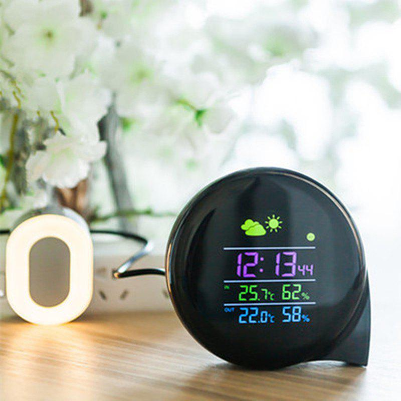 LED Wireless Digital Alarm Clock Weather Forecast Temperature Humidyty Tester