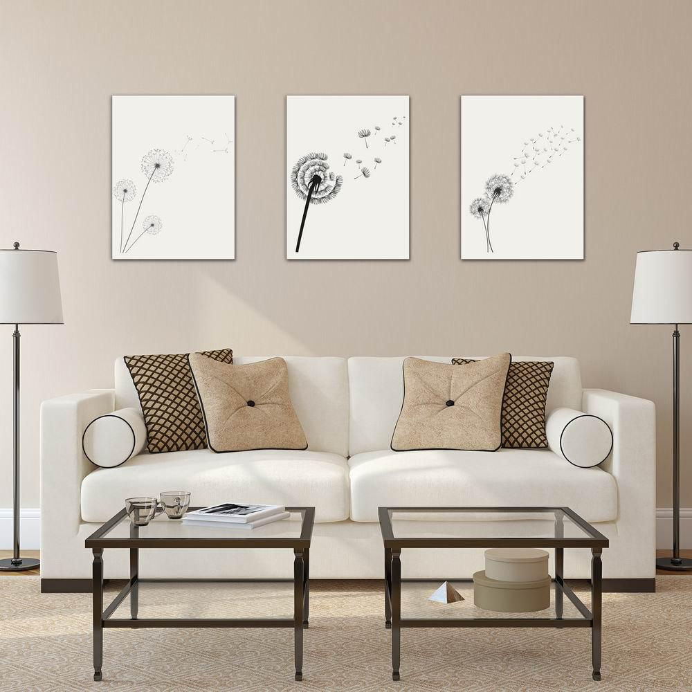 W222 Dandelion Unframed Art Wall Canvas Prints for Home Decorations 3 PCS family wall quote removable wall stickers home decal art mural