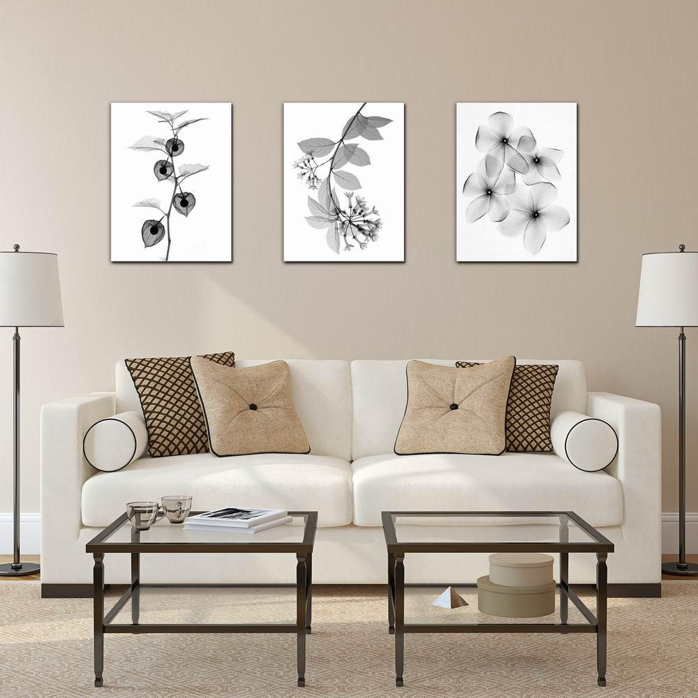 W225 Plants Unframed Art Wall Canvas Prints for Home Decorations 3 PCS family wall quote removable wall stickers home decal art mural