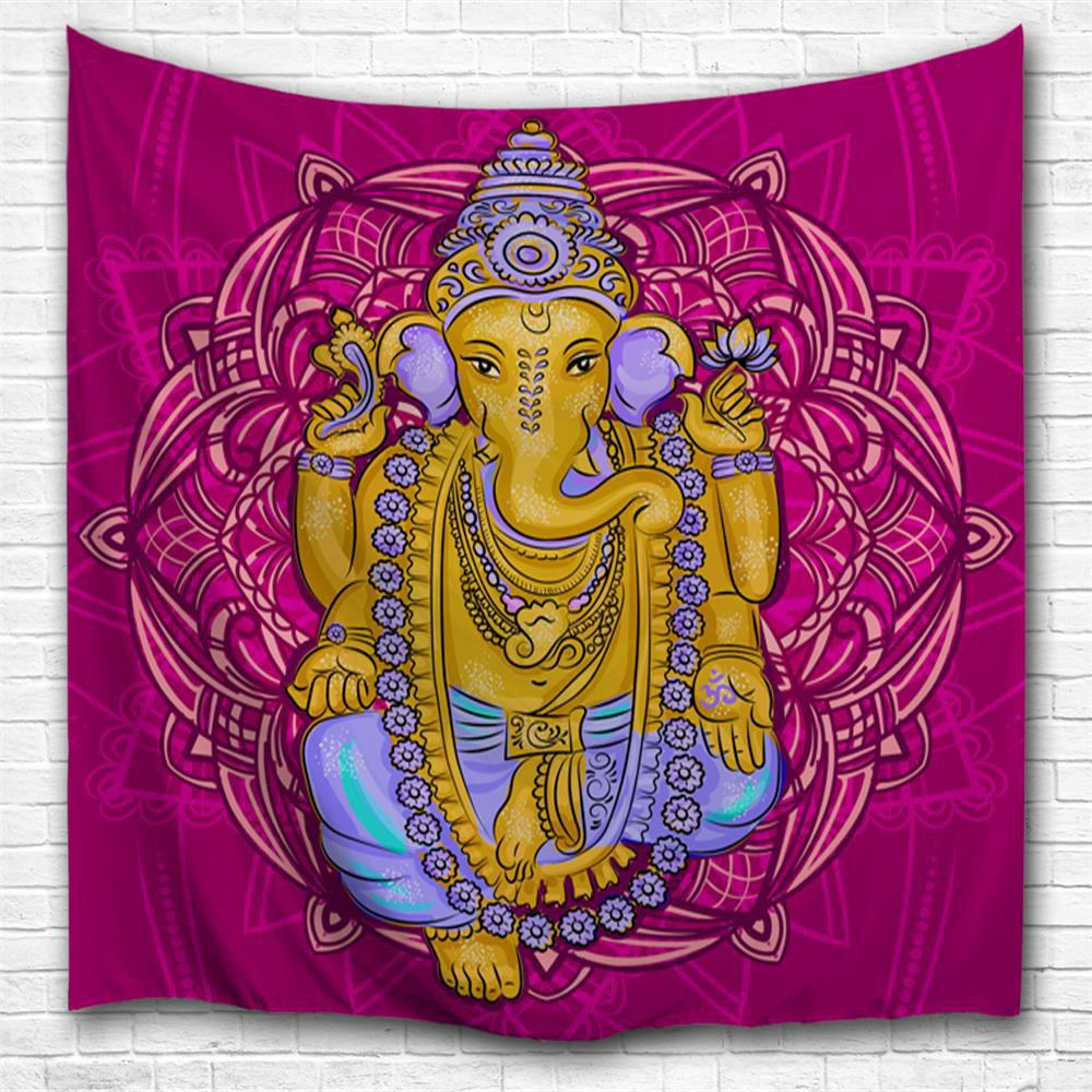 2018 Elephant God 3d Printing Home Wall Hanging Tapestry For