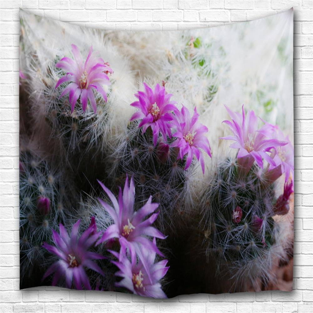 Cactus Flower 3D Printing Home Wall Hanging Tapestry for Decoration cactus print tapestry