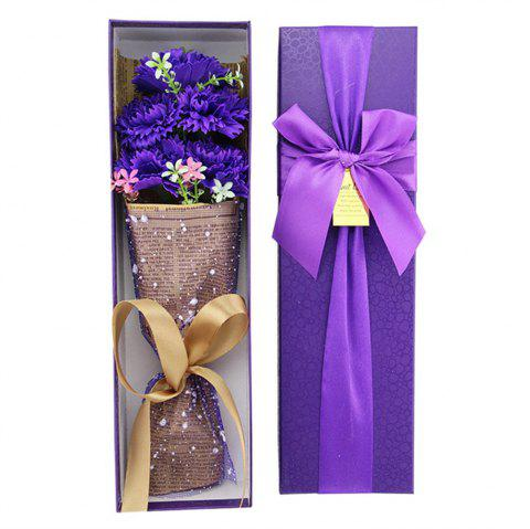 Five Flower Simulation Bouquets of Carnation Soap Box The Idea Mother's Day Gift - VIOLET