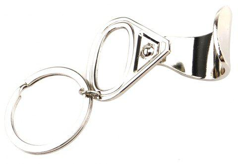 Metal Pull-Tab Opener Keychain Small Gifts - SILVER