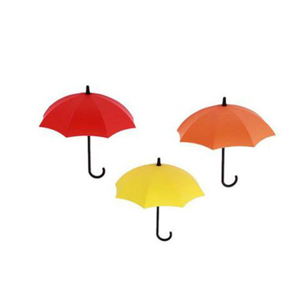 Colorful Umbrella Shape Wall without Trace Storage Hook 18 wedding photo frame wall paintings trace hook nail real invisible