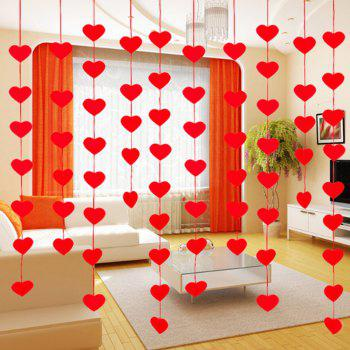 Creative DIY Non-woven Flower Door Pull Curtain - FIRE ENGINE RED