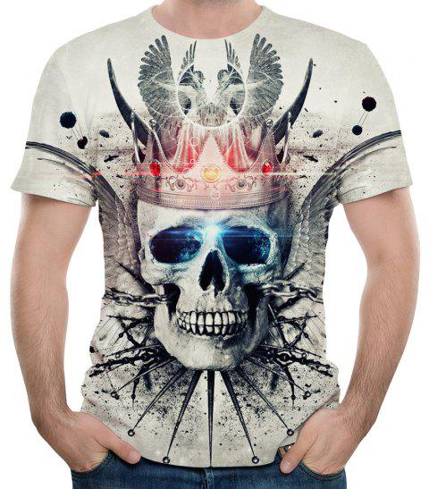 2018 été nouveau mode impression 3D T-shirt court - multicolor A 6XL