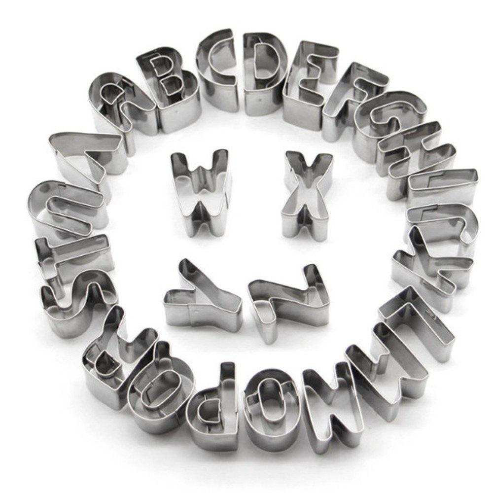 26 Letters Stainless Steel Cookie Cutter 3d 3d 3d