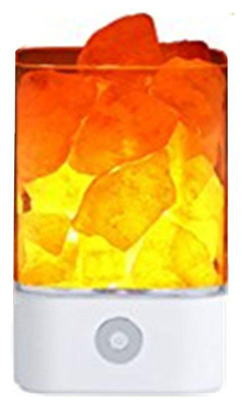 M4 Himalayan 7 Colorful Night Light Ionic Natural Salt Crystal Lamp - WHITE