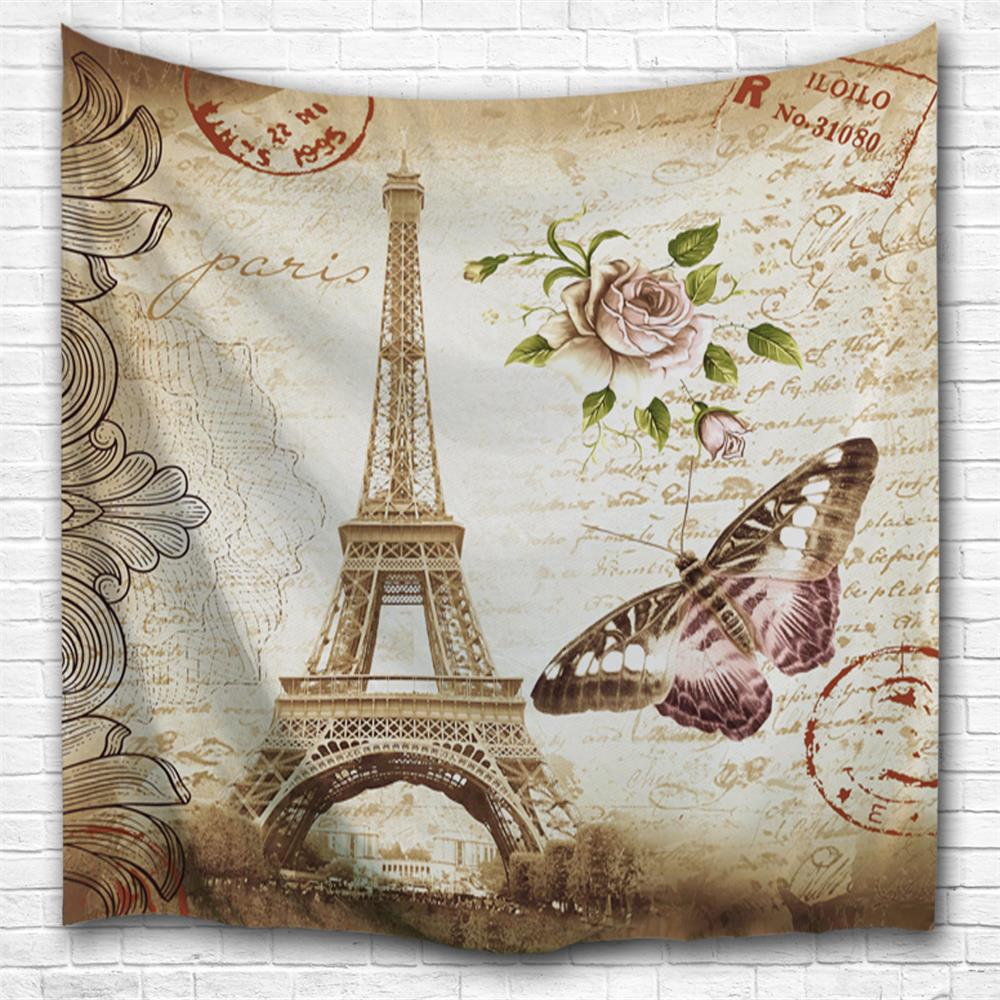 Butterfly Tower 3D Printing Home Wall Hanging Tapestry for Decoration space shark 3d printing home wall hanging tapestry for decoration