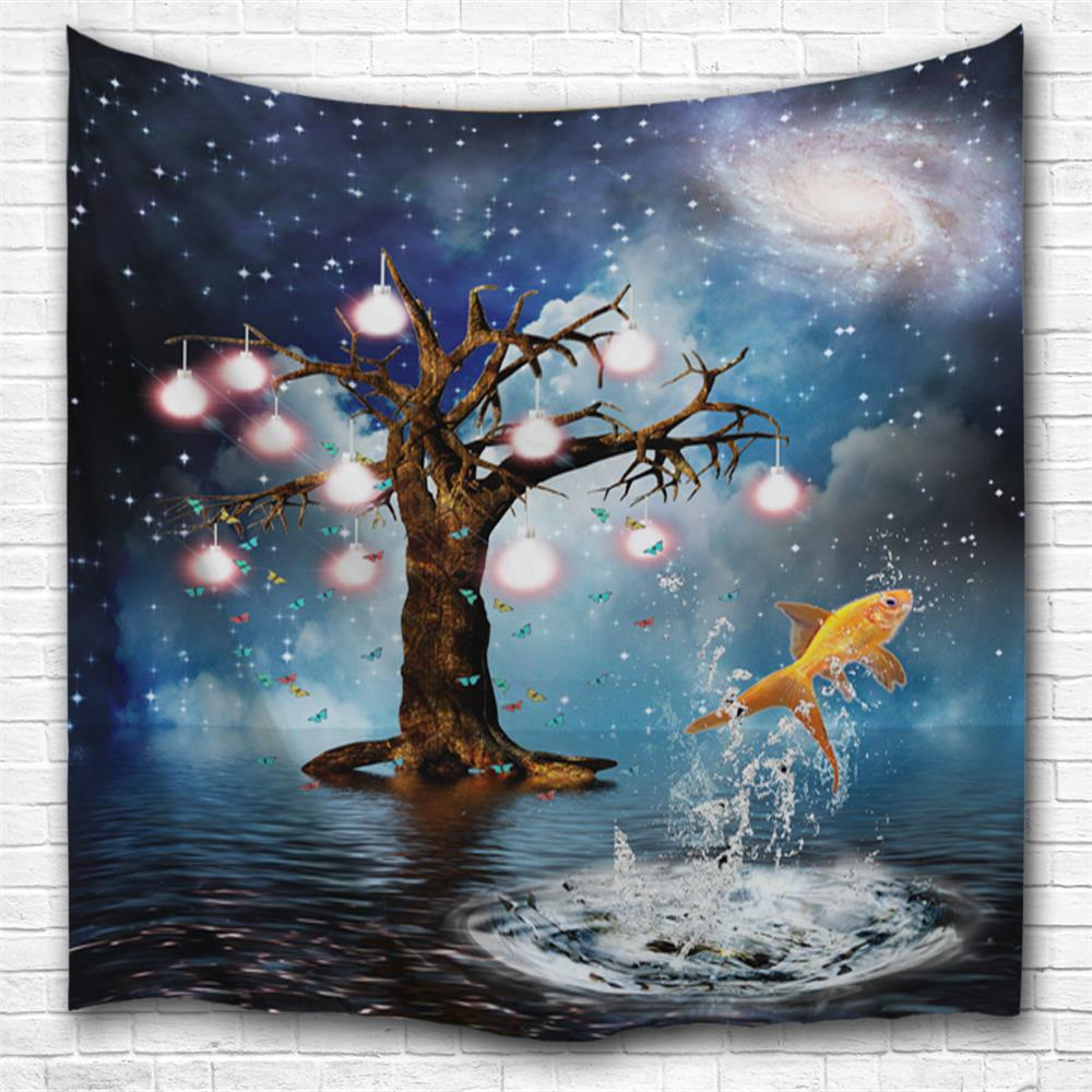 Goldfish 3D Printing Home Wall Hanging Tapestry for Decoration