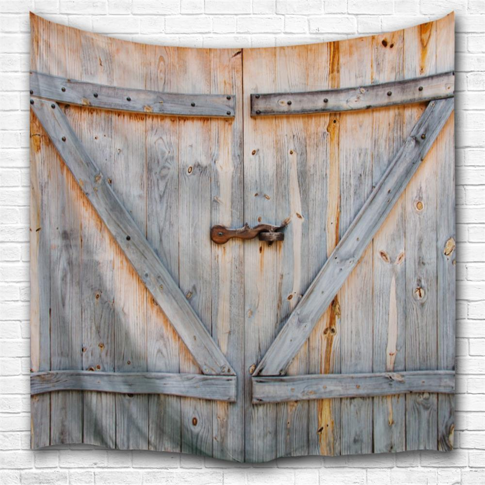 The Old Wooden Door 3D Printing Home Wall Hanging Tapestry for Decoration