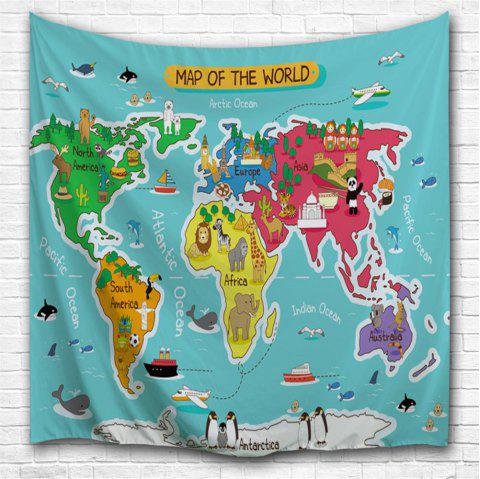 2018 Cartoon World Map 3D Printing Home Wall Hanging Tapestry for ...