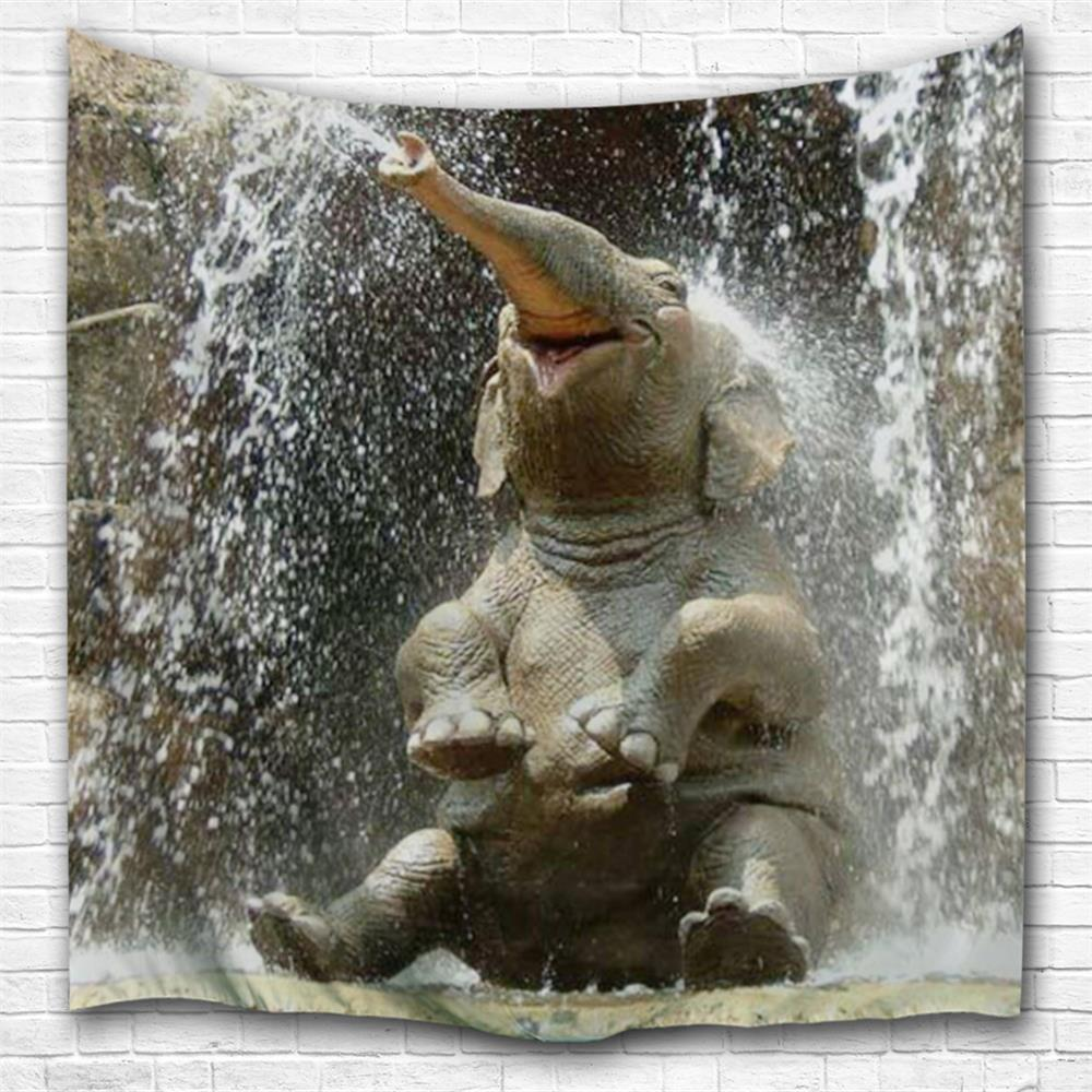 Happy Little Elephant 3D Printing Home Wall Hanging Tapestry for Decoration space shark 3d printing home wall hanging tapestry for decoration