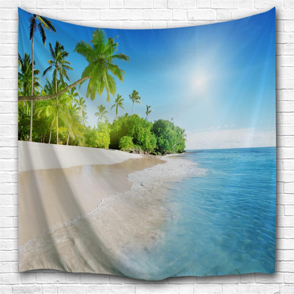 Blue Sky and Water 3D Printing Home Wall Hanging Tapestry for Decoration рощина н лучше не бывает