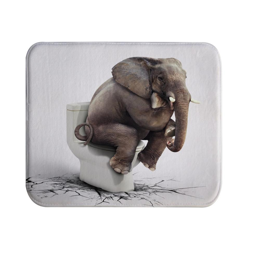 Elephant thinker Super Soft Non-Slip Bath Door Mat Machine Washable плита электрическая лысьва эп 402 мс