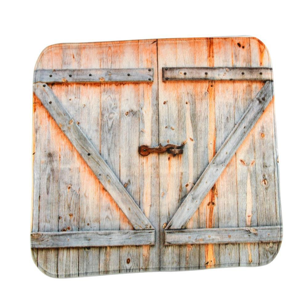 The Old Wooden Door Super Soft Non-Slip Bath Door Mat Machine Washable cowboy lanterns super soft non slip bath door mat machine washable