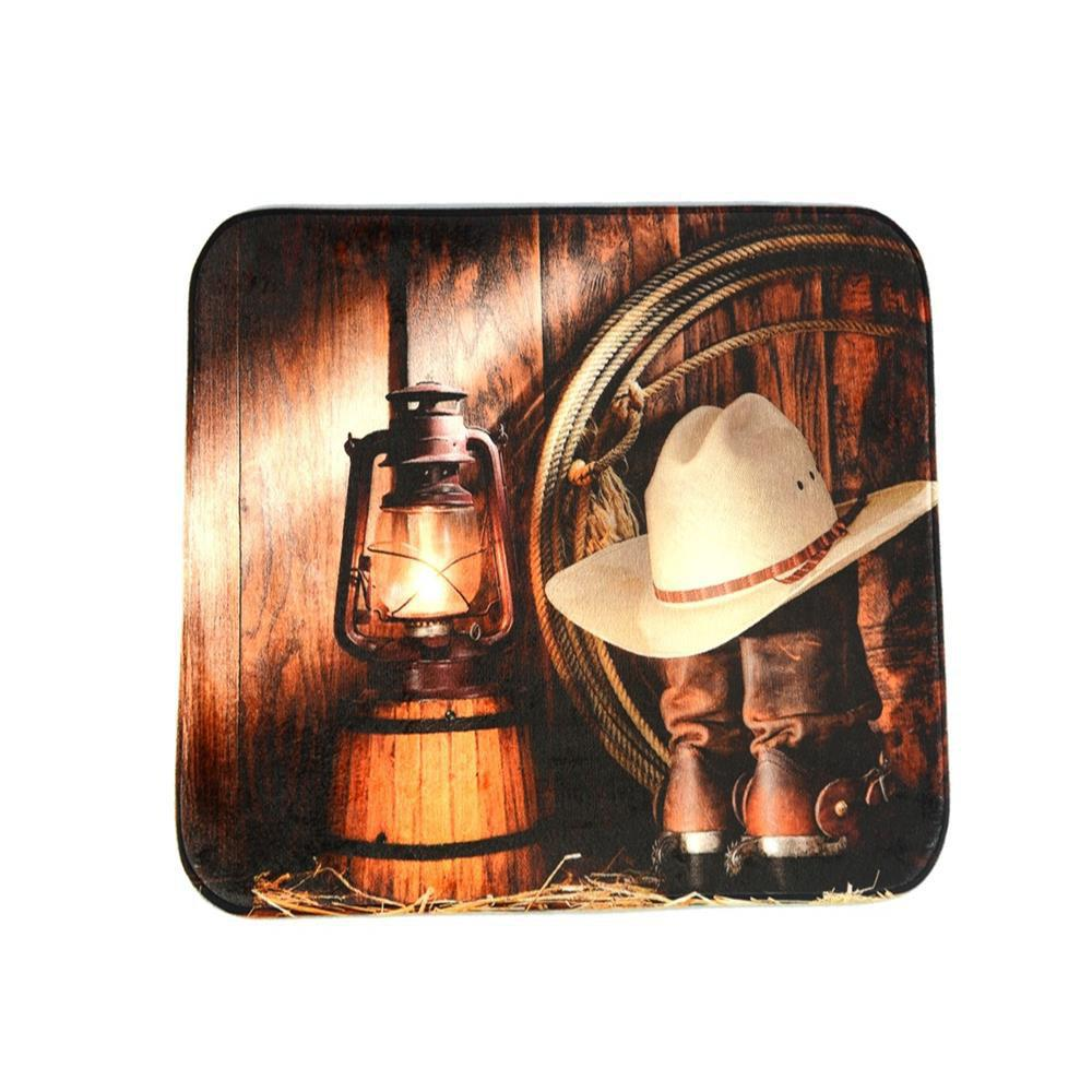 Cowboy Lanterns Super Soft Non-Slip Bath Door Mat Machine Washable cowboy lanterns super soft non slip bath door mat machine washable