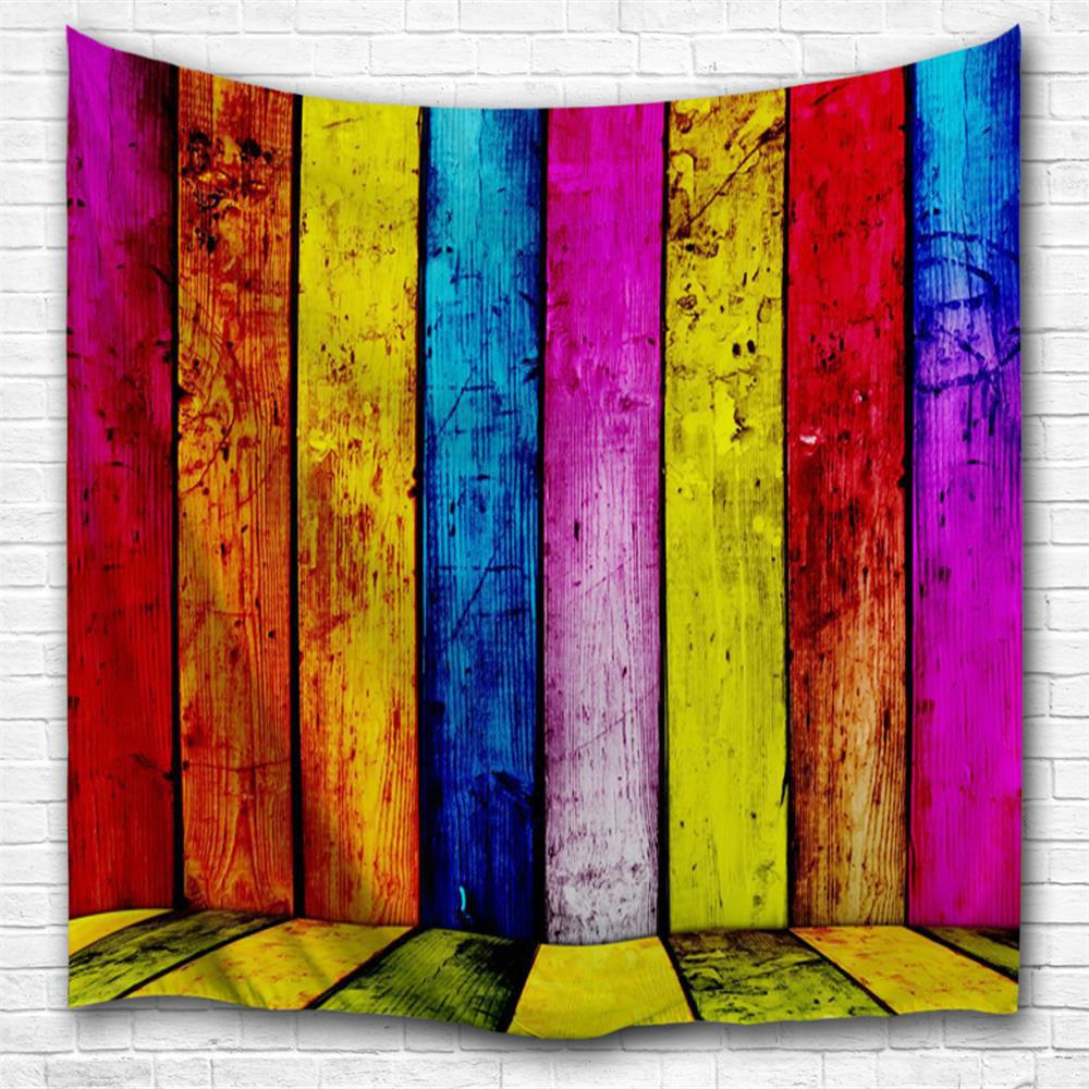 Colorful Planks 3D Printing Home Wall Hanging Tapestry for Decoration space shark 3d printing home wall hanging tapestry for decoration