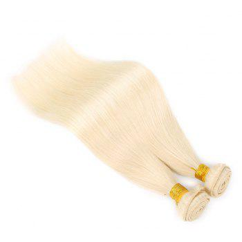 Inidan Straight Light Blonde 613 Human Hair Weave Bundles Extension 1piece - BLONDE 14INCH