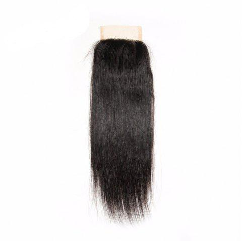Brazilian Virgin Human Hair Natural Black Straight Swiss Lace Closure Extension - NATURAL BLACK 20INCH