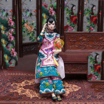 Chinese History Legend Ancient Costume Dolls Culture Gift Collection - multicolor A 32CM / 12.6 INCH