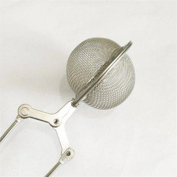 Stainless Steel Chain Handle Tea Ball Infuser - SILVER