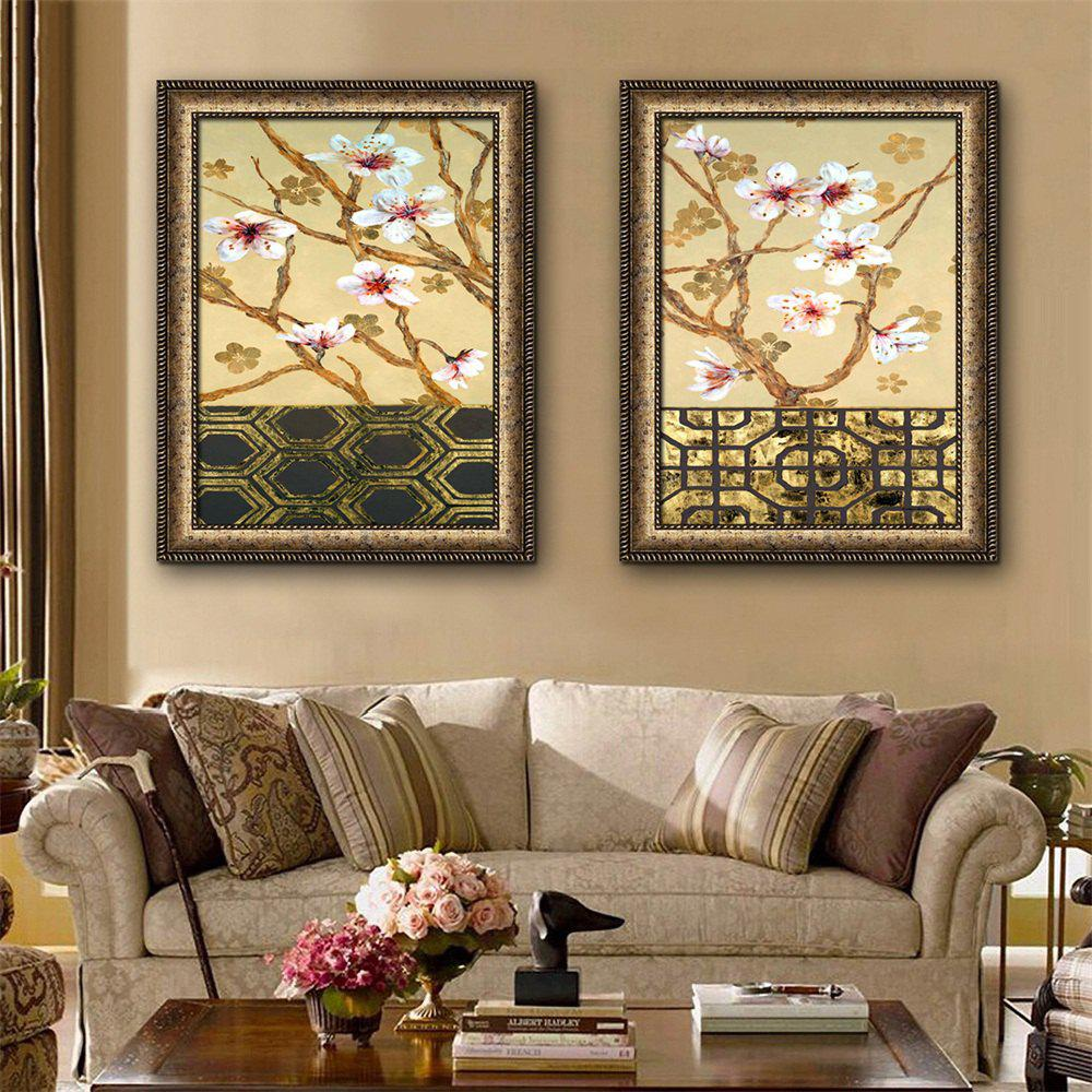 Special Design Frame Paintings Peach Blossom Print 2PCS savannah bee company natural and organic peach blossom shimmer lip tint 0 09 ounce