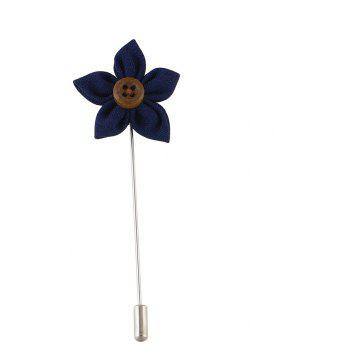 Colorful Fabric Flower Brooch Pins - BLUE