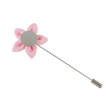 Colorful Fabric Flower Brooch Pins - PINK